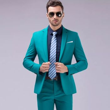 Men Business Youth Wedding Slim Two Piece Suits Buy Men Business Youth Wedding Slim Two Piece Suits Online At Low Prices Club Factory