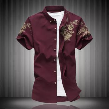 Mens Collar Single Breasted Flower Printed Shirt: Buy Shirts at Factory Price Club Factory