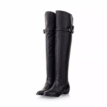 Flat Thigh High Leather Boots: Buy Flat