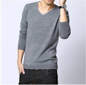 Mens Slim Stylish Fit V Neck Knitted Pullovers