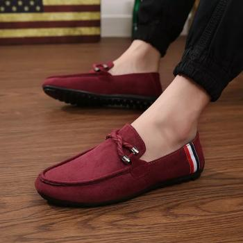 Red Colour Loafer Shoe For Men: Buy Red