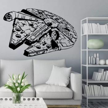 Millenium Falcon Star Wars Art Stickers Decal Diy Buy Stickers Wallpapers At Factory Price Club Factory